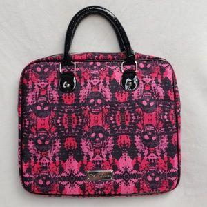 Betsey Johnson Pink Skull Laptop Bag
